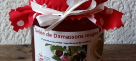 Gelée de damassons rouges 240g